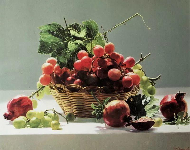 中外关于葡萄题材的绘画插图5