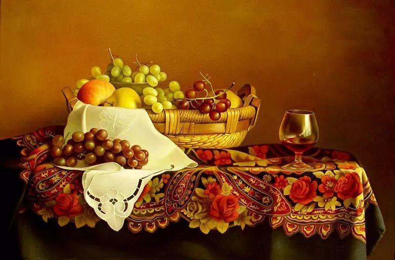 中外关于葡萄题材的绘画插图7
