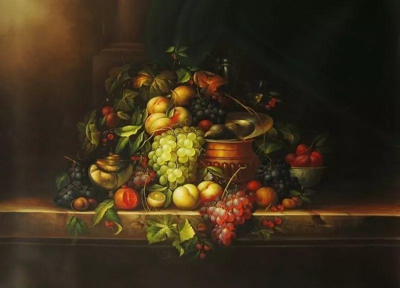 中外关于葡萄题材的绘画插图8
