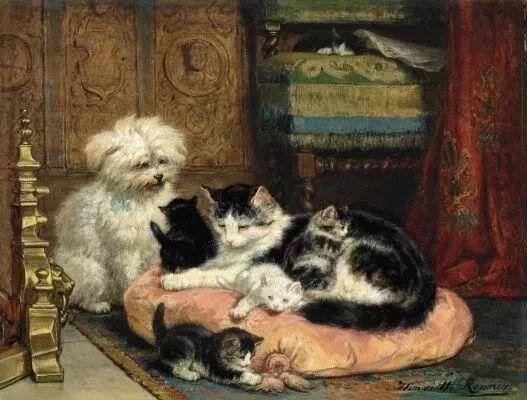 她爱猫、养猫、画猫,倾注一生才华献给猫插图7