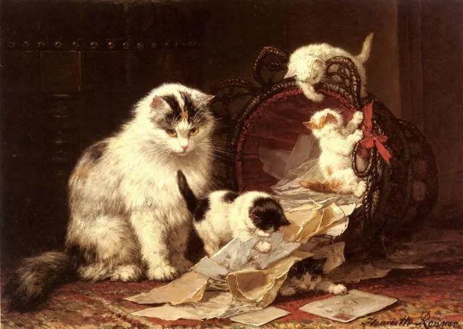 她爱猫、养猫、画猫,倾注一生才华献给猫插图37