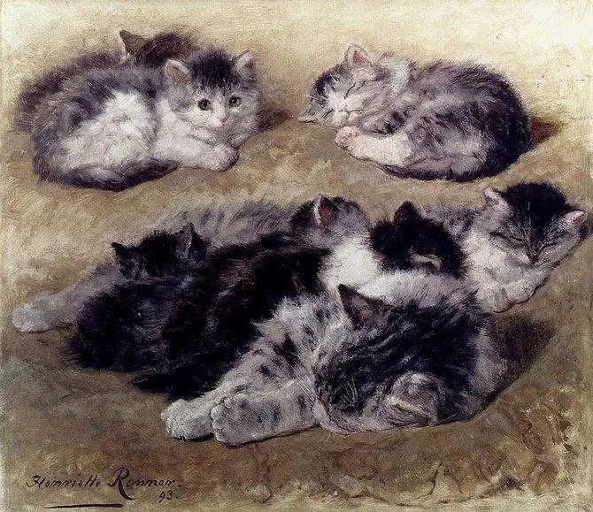 她爱猫、养猫、画猫,倾注一生才华献给猫插图43