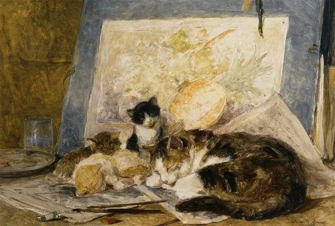 她爱猫、养猫、画猫,倾注一生才华献给猫插图53