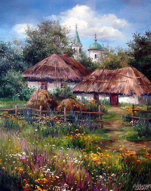 美丽的花景——乌克兰女画家奥尔加插图1