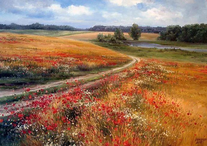 美丽的花景——乌克兰女画家奥尔加插图5
