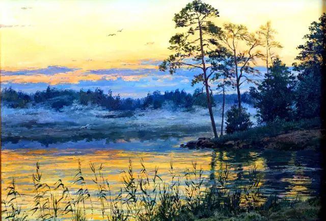 33幅俄罗斯精美风景油画插图1