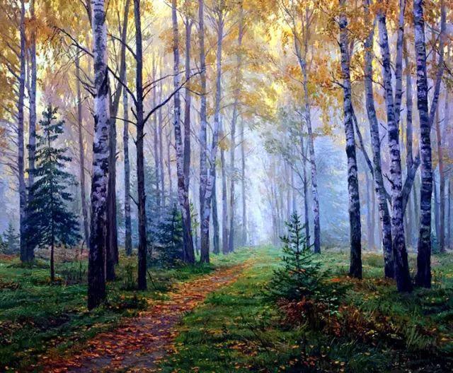 33幅俄罗斯精美风景油画插图5
