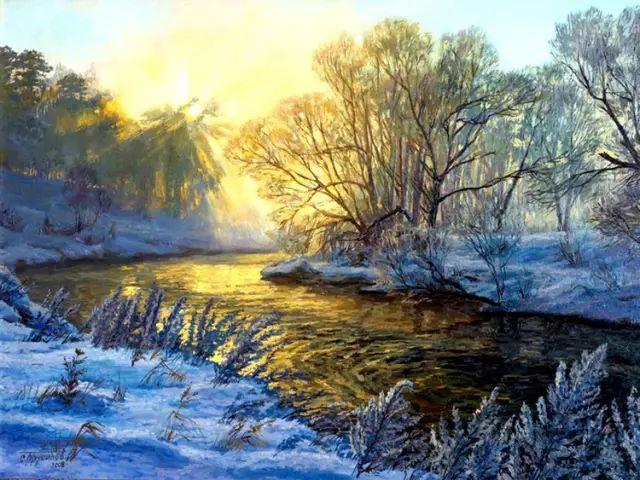 33幅俄罗斯精美风景油画插图9