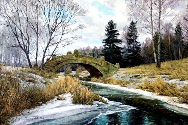 33幅俄罗斯精美风景油画插图15