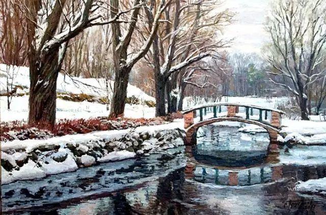 33幅俄罗斯精美风景油画插图49
