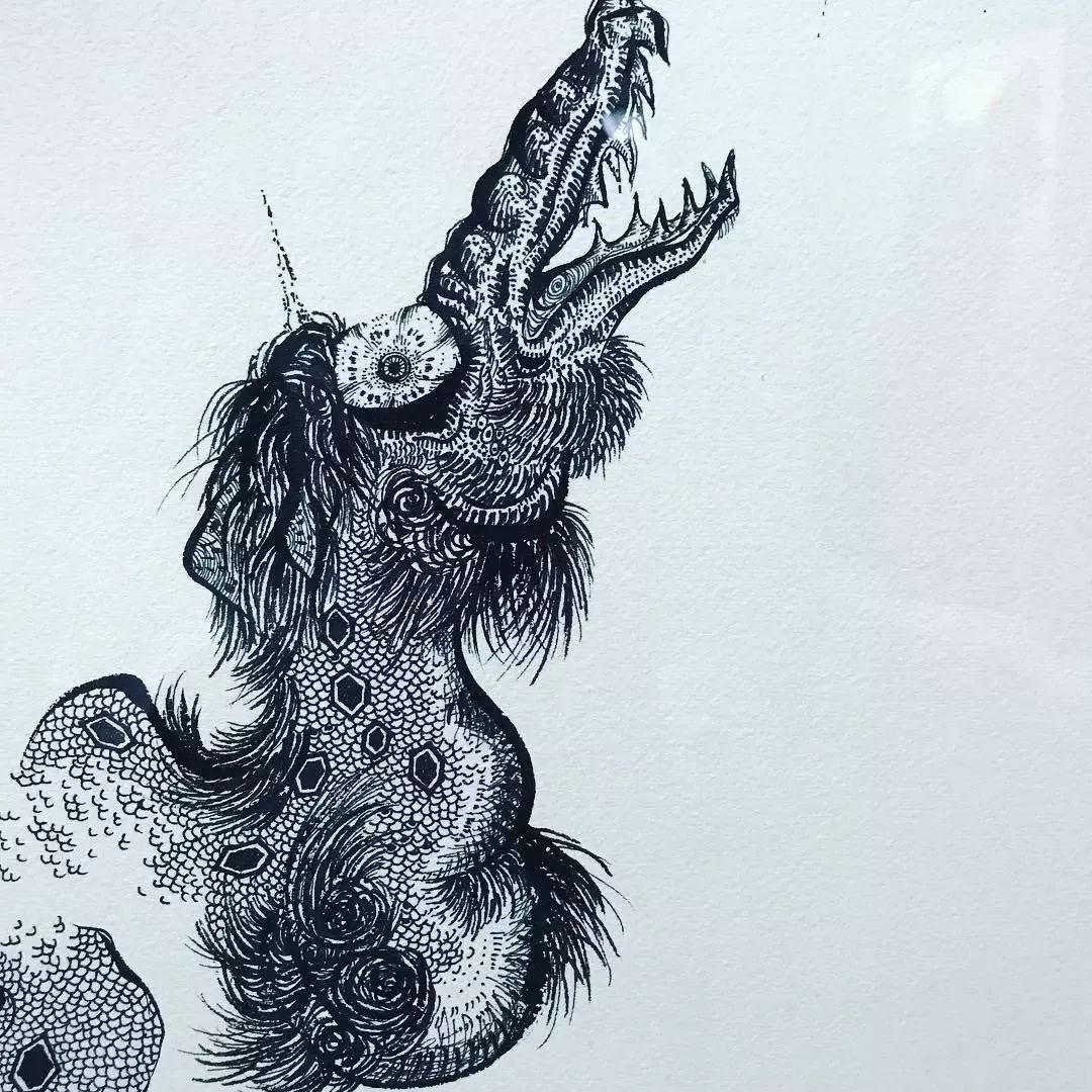 """""""狂野少女""""绘画堪比毕加索 林俊杰都为她做专属音乐插图45"""