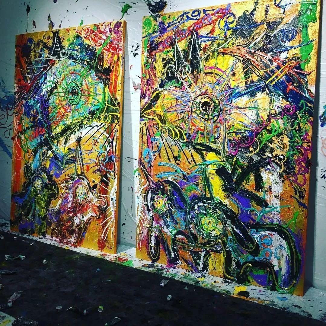 """""""狂野少女""""绘画堪比毕加索 林俊杰都为她做专属音乐插图61"""