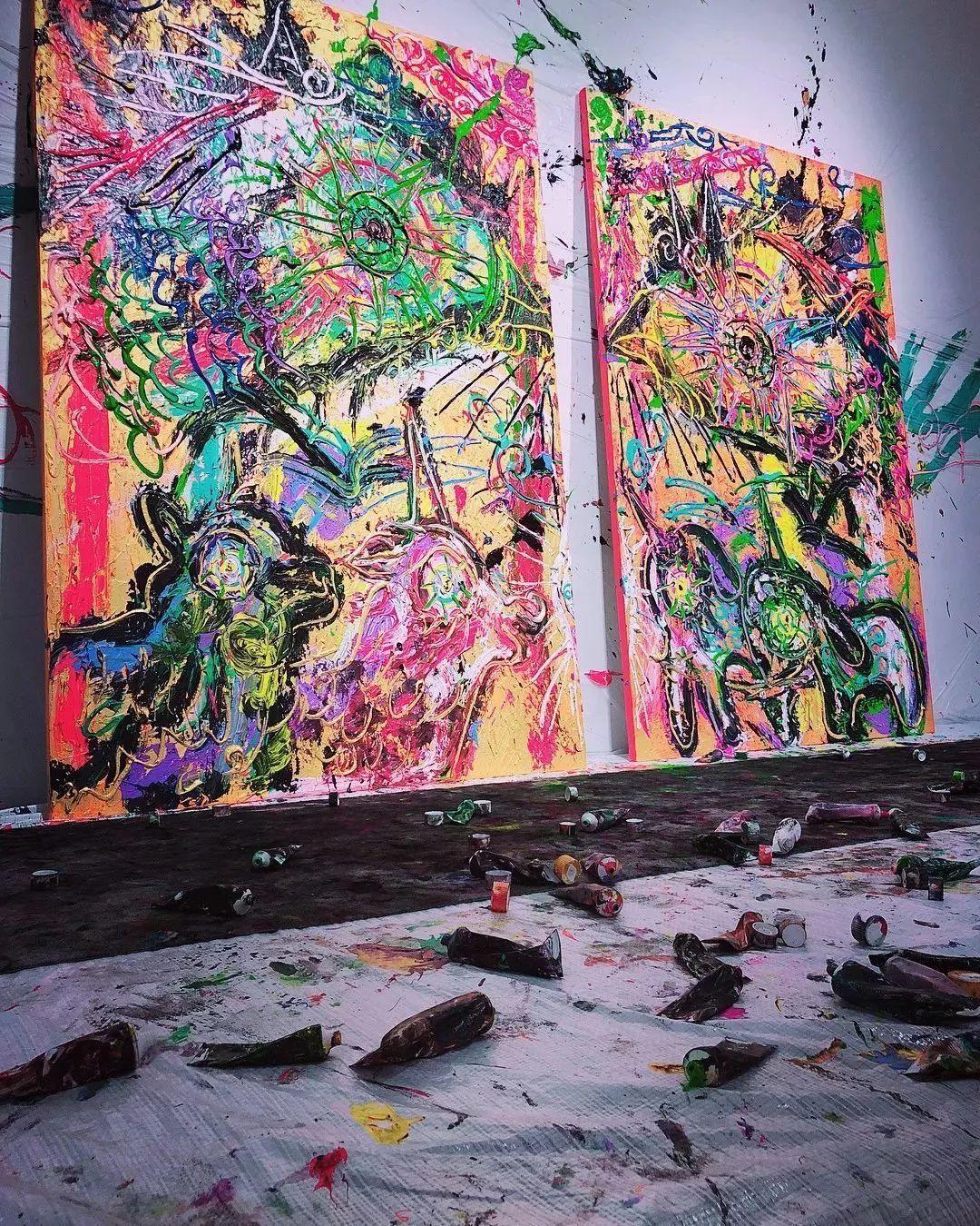"""""""狂野少女""""绘画堪比毕加索 林俊杰都为她做专属音乐插图65"""