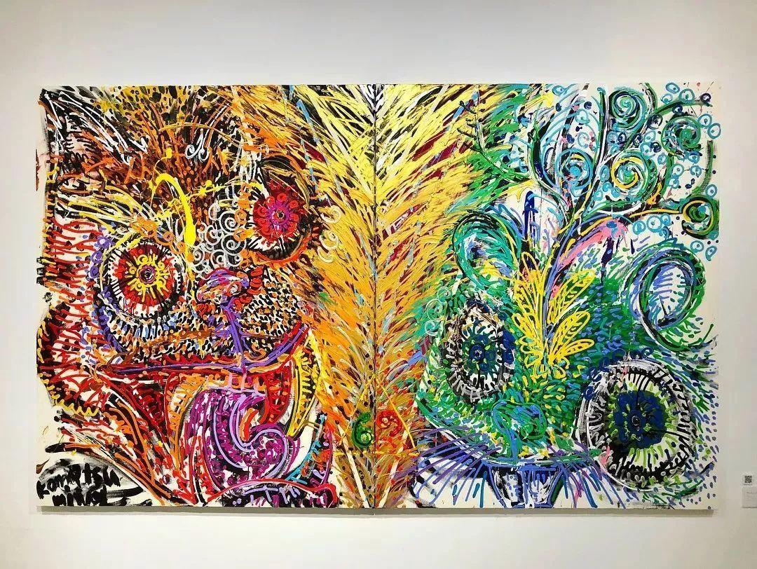 """""""狂野少女""""绘画堪比毕加索 林俊杰都为她做专属音乐插图69"""
