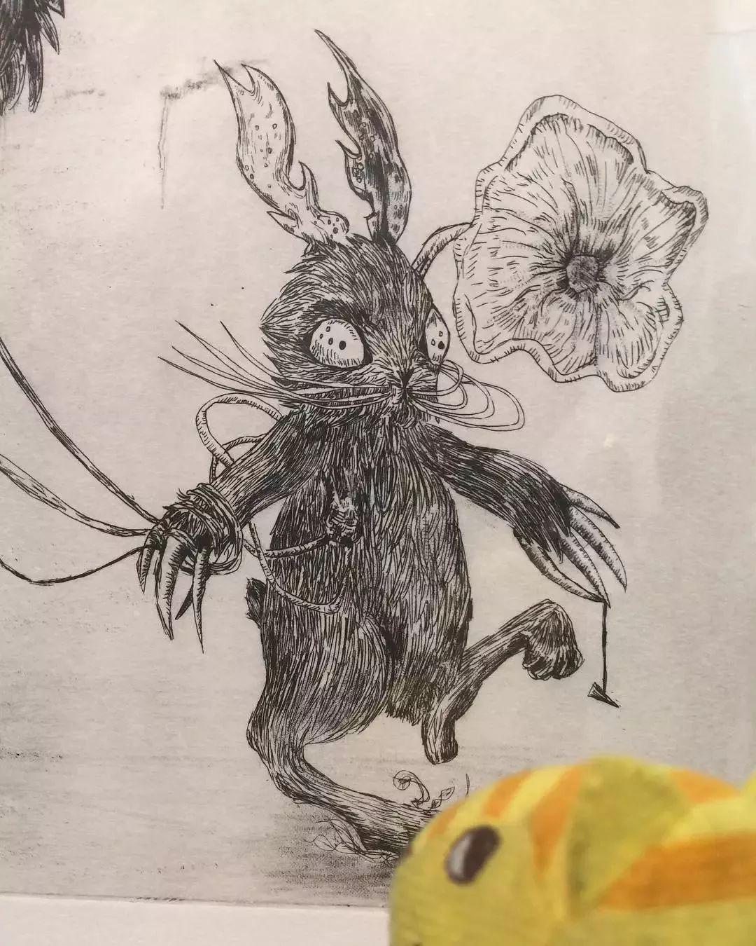 """""""狂野少女""""绘画堪比毕加索 林俊杰都为她做专属音乐插图89"""