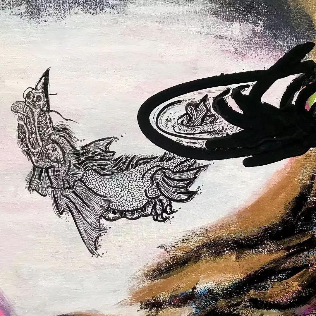 """""""狂野少女""""绘画堪比毕加索 林俊杰都为她做专属音乐插图91"""
