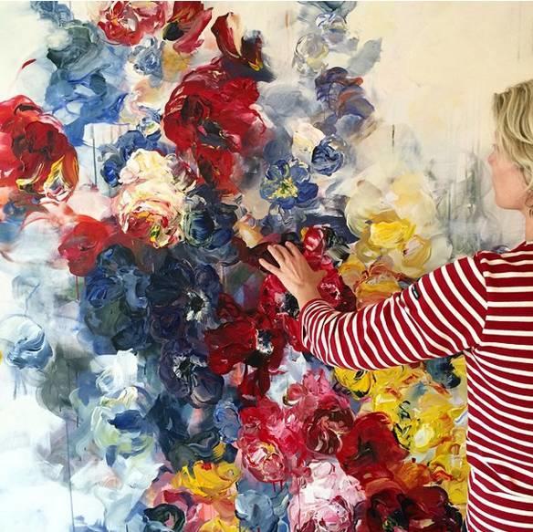 她一生爱花,惜花,种花,一辈子都在画花插图1