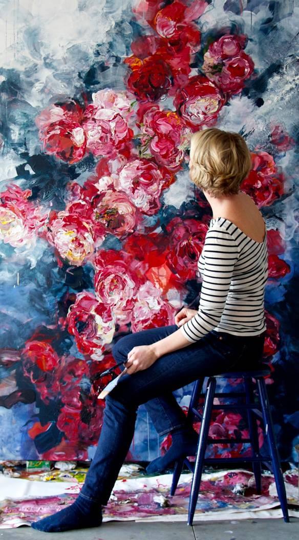 她一生爱花,惜花,种花,一辈子都在画花插图11
