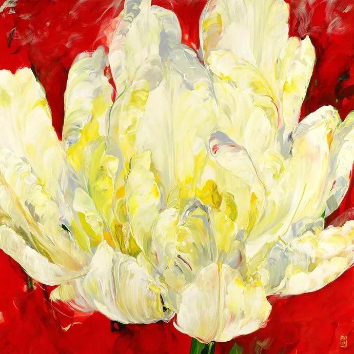 她一生爱花,惜花,种花,一辈子都在画花插图77