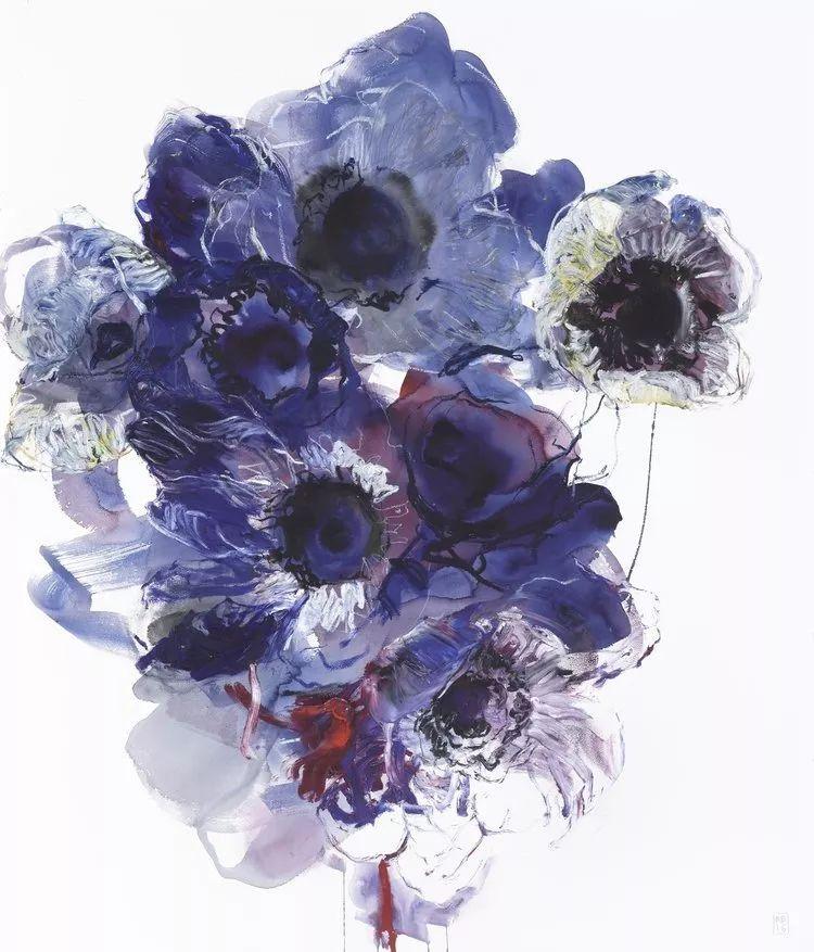 她一生爱花,惜花,种花,一辈子都在画花插图87