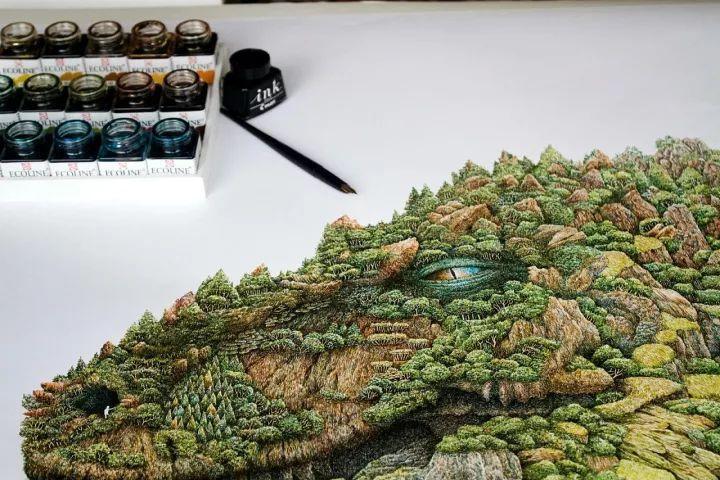 90后男孩的极品钢笔画,细腻的让人窒息插图102