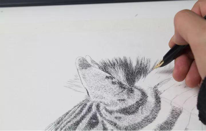 90后男孩的极品钢笔画,细腻的让人窒息插图142