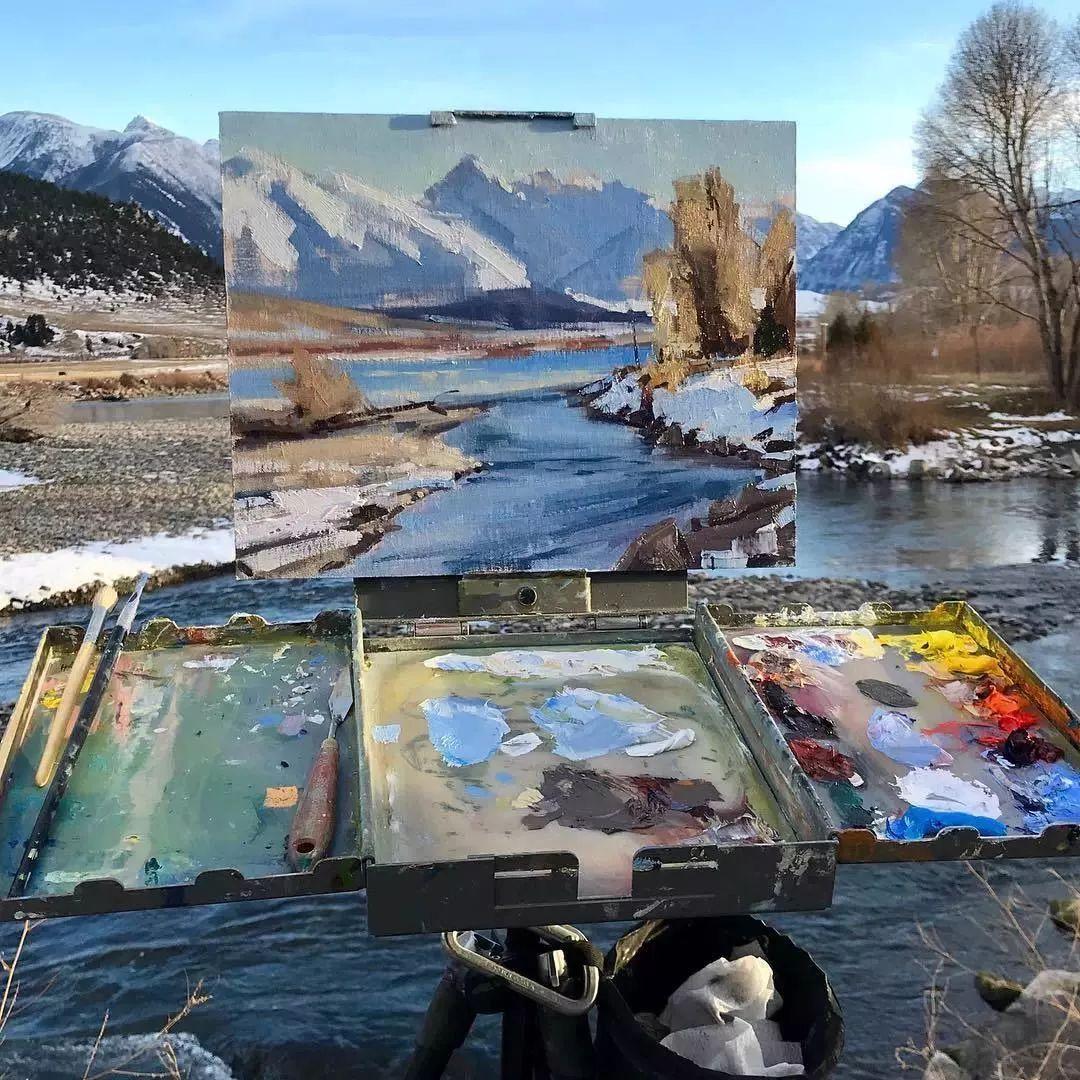 太震撼了!画与景色竟然无缝衔接,网友:中间放了块玻璃吧?插图