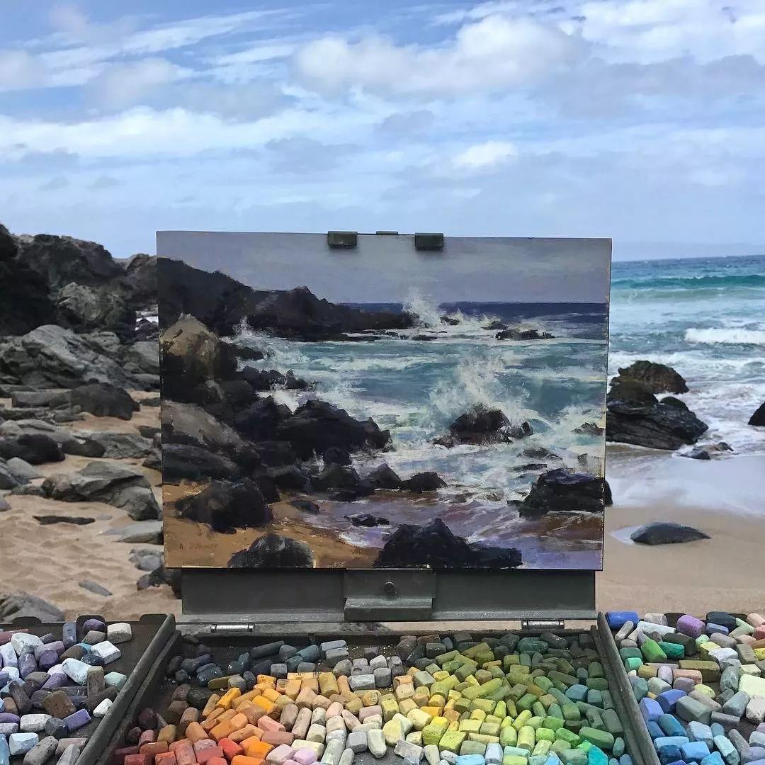 太震撼了!画与景色竟然无缝衔接,网友:中间放了块玻璃吧?插图7