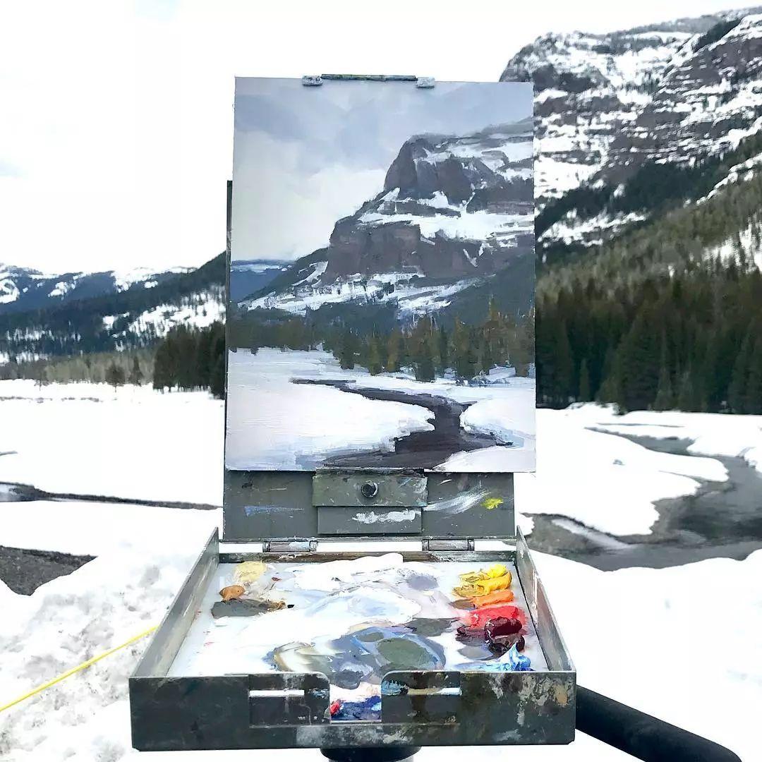 太震撼了!画与景色竟然无缝衔接,网友:中间放了块玻璃吧?插图8