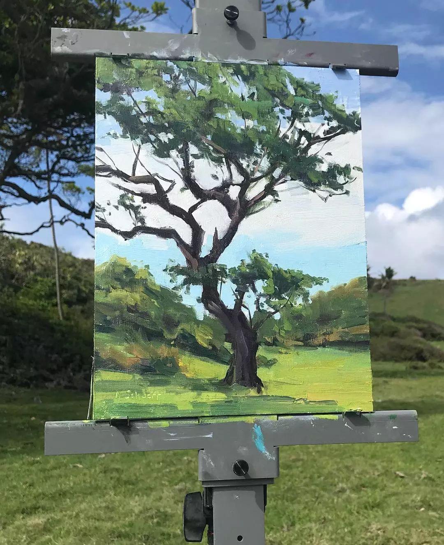 太震撼了!画与景色竟然无缝衔接,网友:中间放了块玻璃吧?插图24