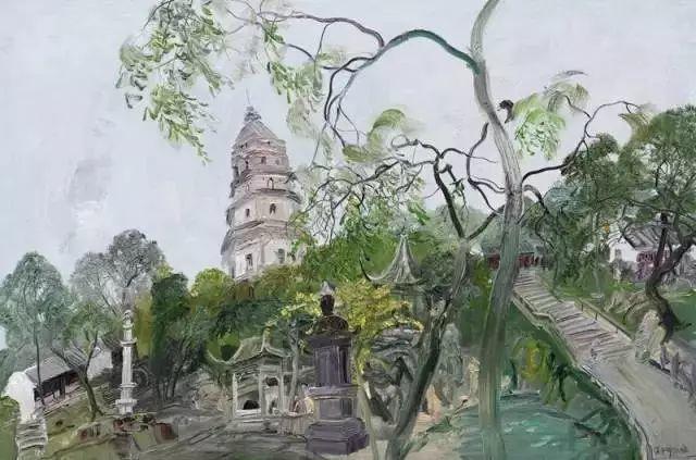 中国油画 40多位名家风景写生插图11