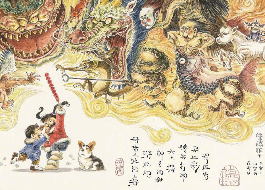 震撼!85后帅哥用笔把奇异怪兽搬出尘封的历史插图117