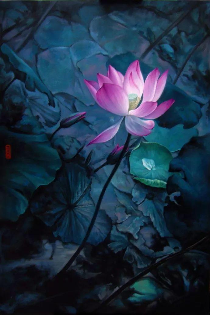 """她被媒界喻为""""荷画美人"""",亦被称为中国最年轻的女画家插图"""