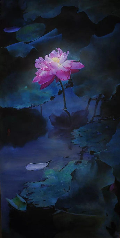 """她被媒界喻为""""荷画美人"""",亦被称为中国最年轻的女画家插图2"""