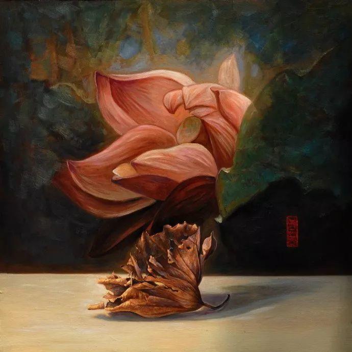 """她被媒界喻为""""荷画美人"""",亦被称为中国最年轻的女画家插图13"""
