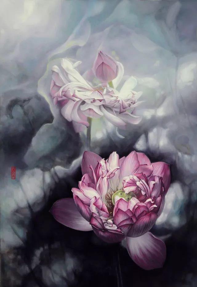 """她被媒界喻为""""荷画美人"""",亦被称为中国最年轻的女画家插图14"""