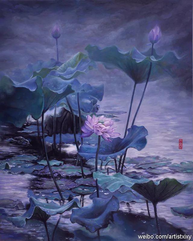 """她被媒界喻为""""荷画美人"""",亦被称为中国最年轻的女画家插图22"""