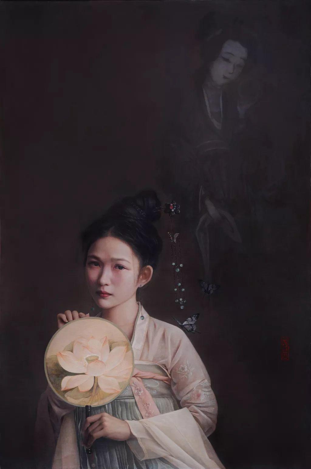"""她被媒界喻为""""荷画美人"""",亦被称为中国最年轻的女画家插图35"""