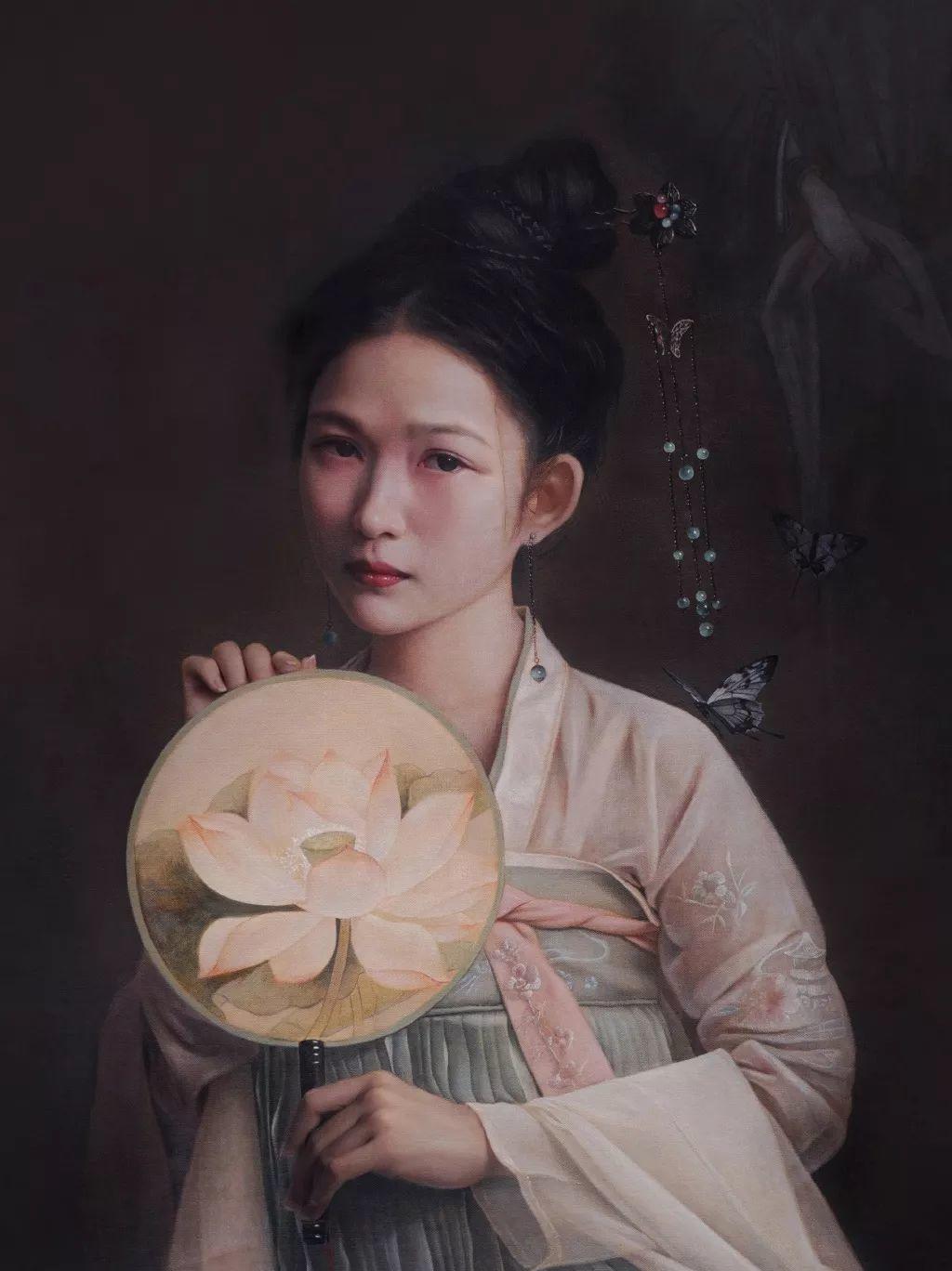 """她被媒界喻为""""荷画美人"""",亦被称为中国最年轻的女画家插图36"""