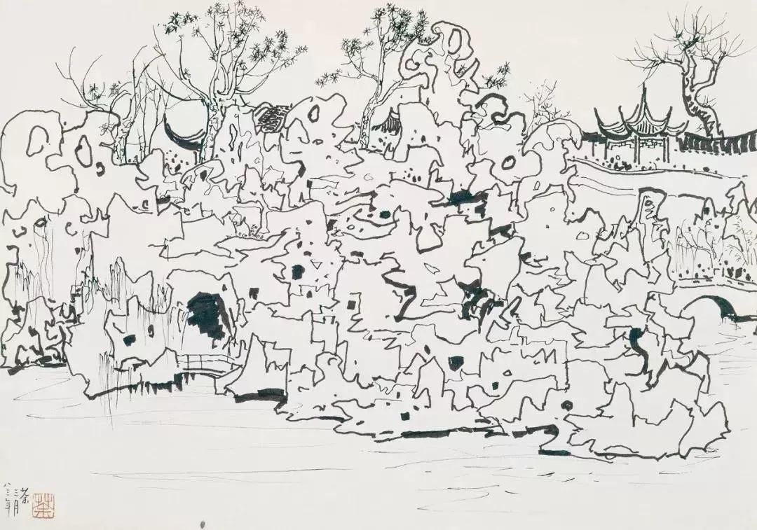 1.4375亿元!吴冠中《狮子林》创其中国画最高价纪录!插图4
