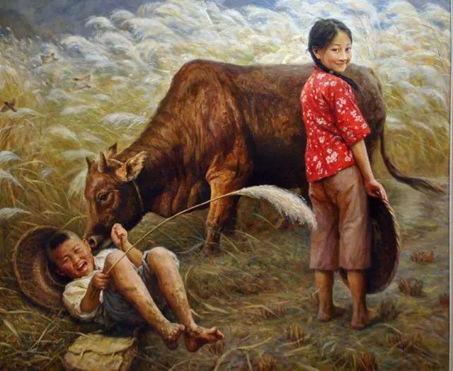 油画里的童年时光插图1