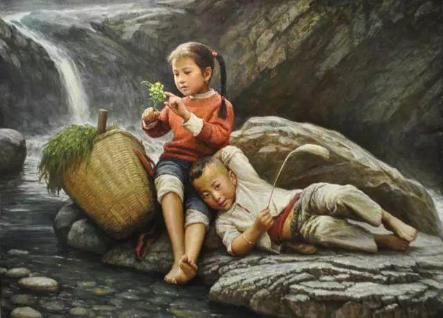 油画里的童年时光插图7