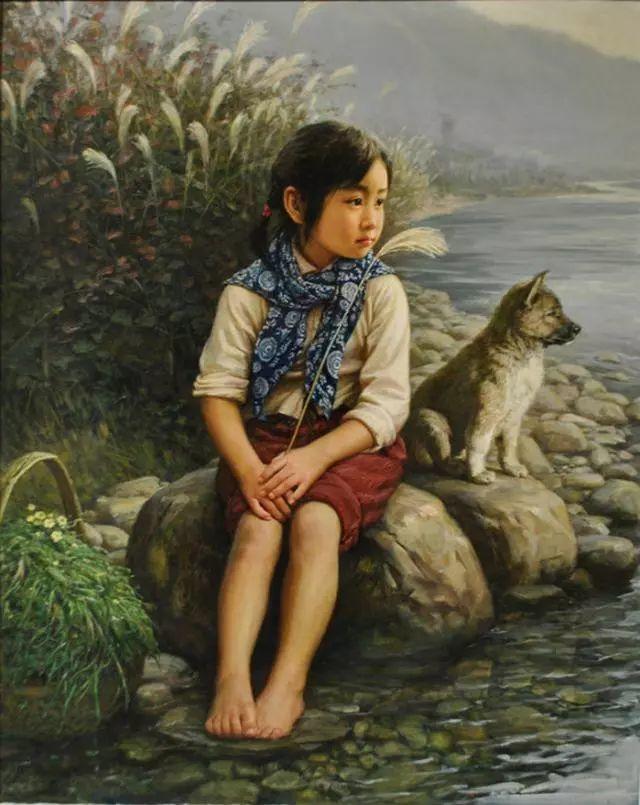 油画里的童年时光插图25