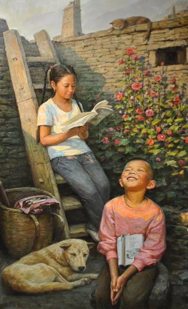 油画里的童年时光插图43
