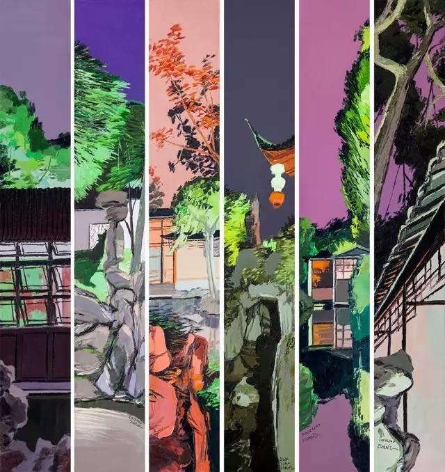 他同时用一百多种颜色激情作画——洪浩昌插图