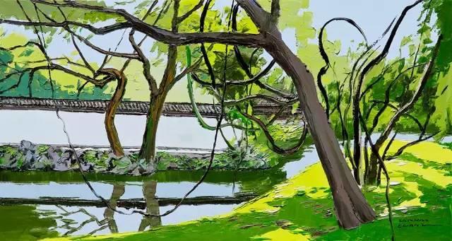 他同时用一百多种颜色激情作画——洪浩昌插图28