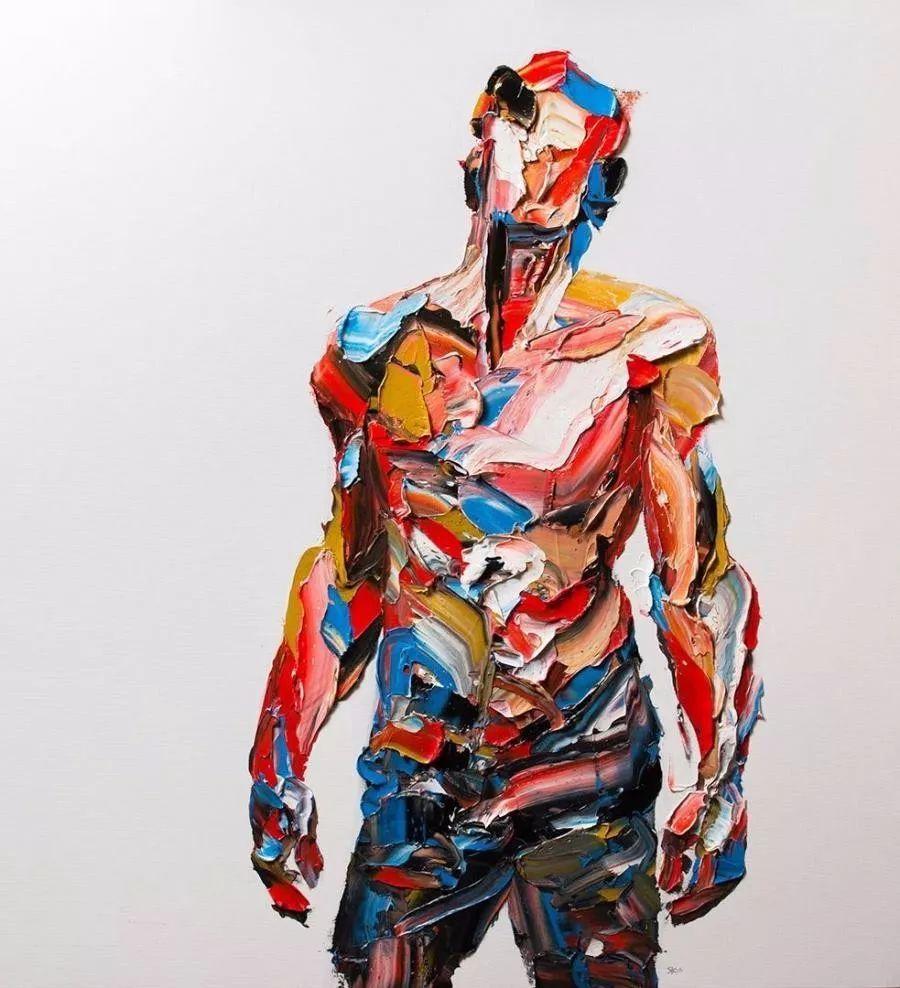 极具张力的大型刀画——伊朗艺术家Salman Khoshroo插图1