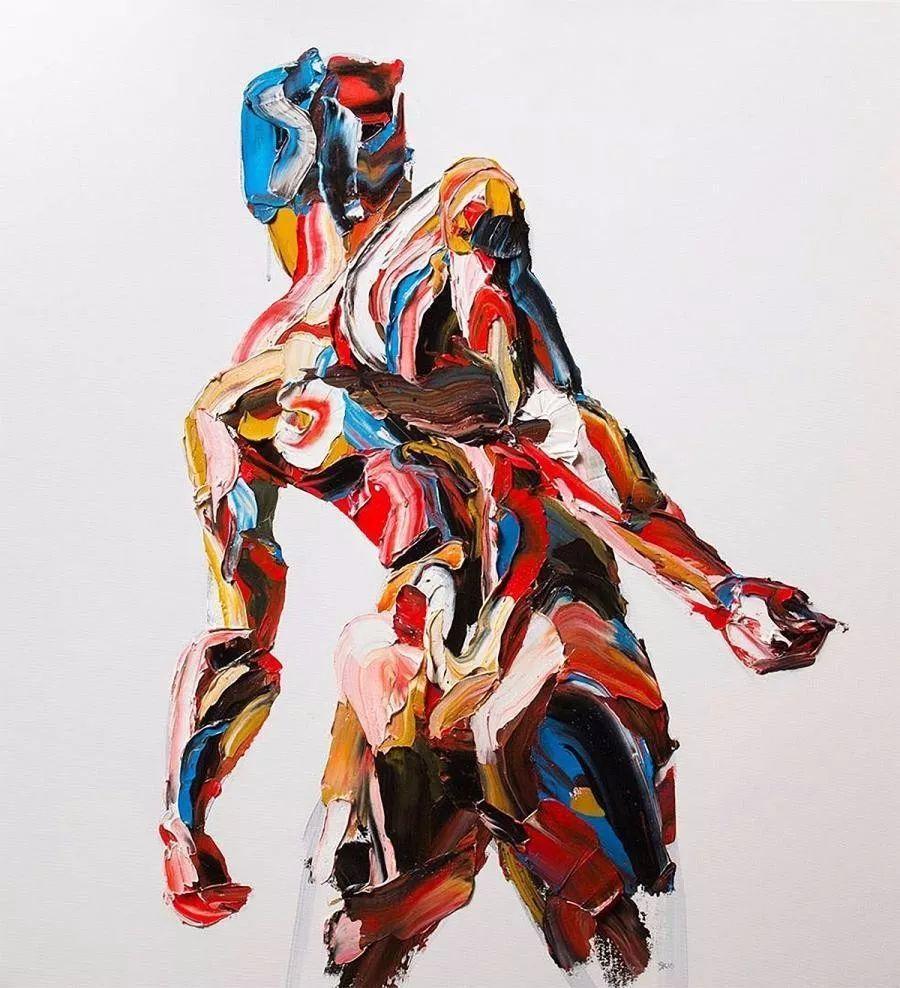 极具张力的大型刀画——伊朗艺术家Salman Khoshroo插图3