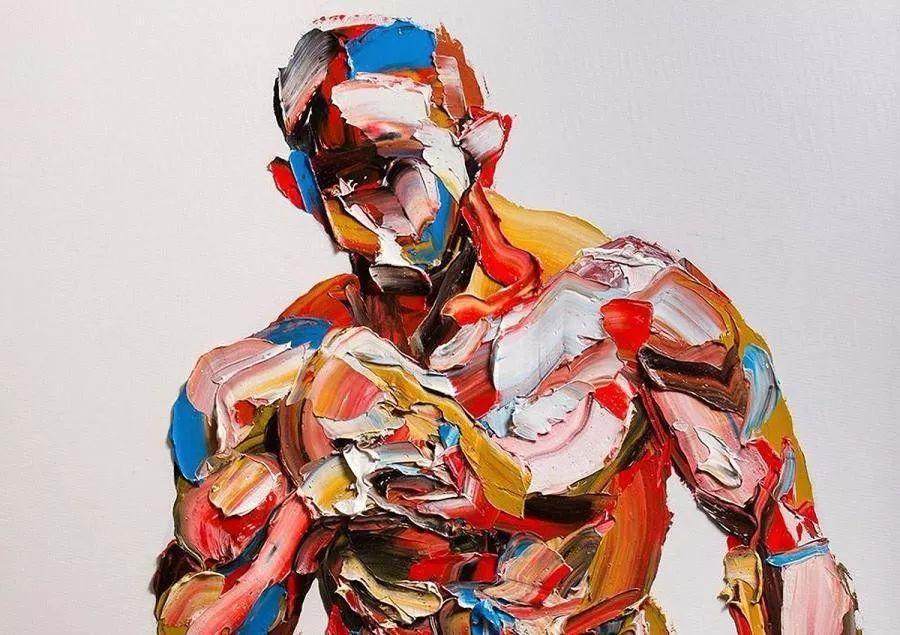极具张力的大型刀画——伊朗艺术家Salman Khoshroo插图4