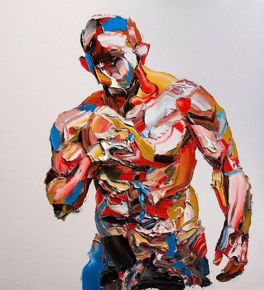 极具张力的大型刀画——伊朗艺术家Salman Khoshroo插图5